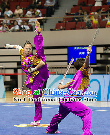 Top Embridered Martial Arts Uniform Supplies Kung Fu Swords Broadswords Championship Competition Clothing for Women