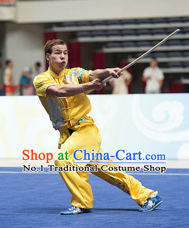Top Chinese Kung Fu Swords Uniform Competition Costumes for Men