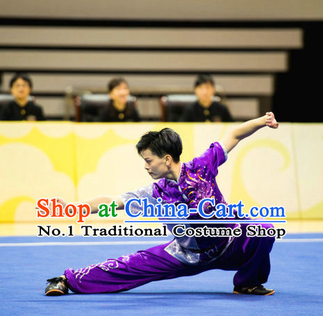Top Chinese Kung Fu Uniform Martial Arts Uniforms Kungfu Suits Competition Costumes Complete Set for Women
