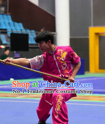 Top Chinese Kung Fu Stick Wooden Dummy Hung Gar Taekwondo Gear Taekwondo Equipment Kung Fu Moves Chinese Kungfu Costume Wing Chun Costumes Competition Uniforms
