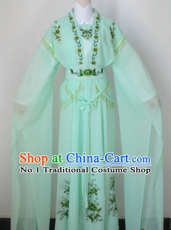 Chinese Classical Long Sleeve Dance Costume Dance Supply Dance Apparel Theatrical Costumes Complete Set for Women