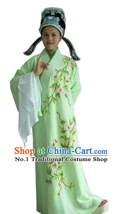 Chinese Opera Costumes Long Sleeve Dance Costume Dance Supply Dance Apparel Theatrical Costumes Complete Set for Women