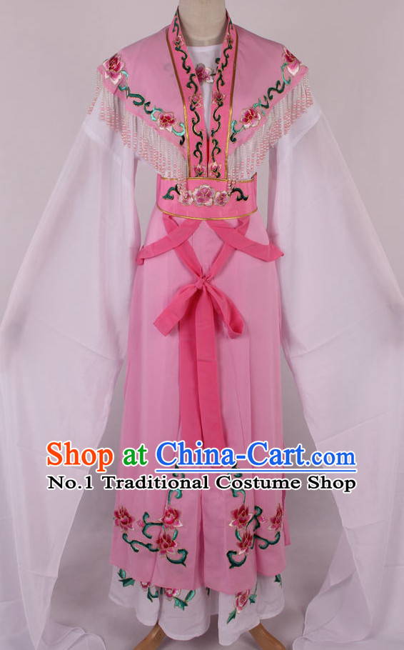 Chinese Beijing Opera Peking Opera Hua Tan Long Water Sleeve Dance Costumes Kids
