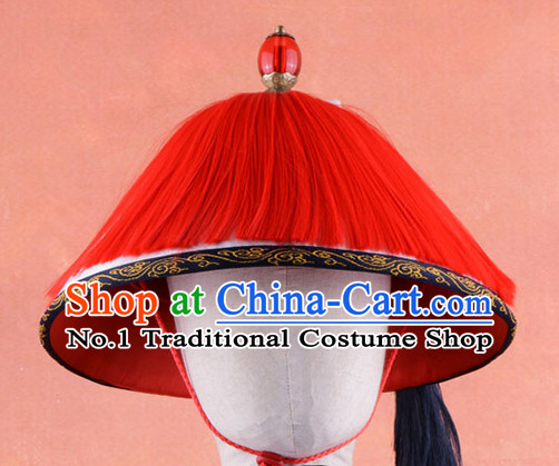 Chinese Traditional Qing Palace Official Solider Hat