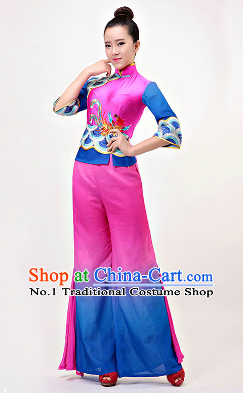 Traditional Chinese Han Minority Dance Costumes Complete Set for Women