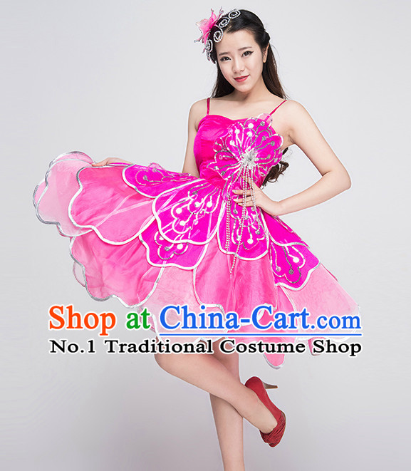 Traditional chinese flower dance costumes for competition mightylinksfo