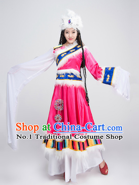 Traditional Chinese Mongolian Dance Costumes for Competition