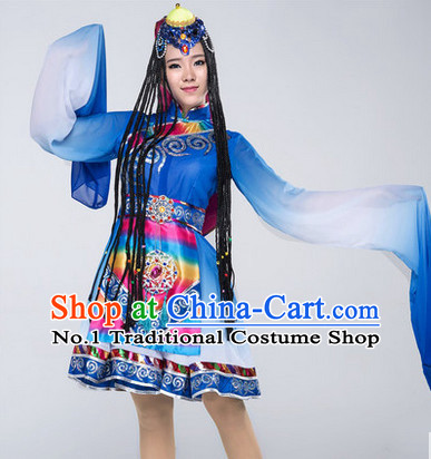 Chinese Classical Tibetan Girls Dancewear Dance Costumes for Competition