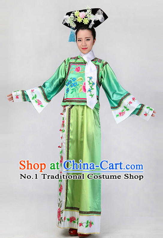 Chinese Qing Dynasty Style Classical Girls Dancewear Dance Costumes for Competition