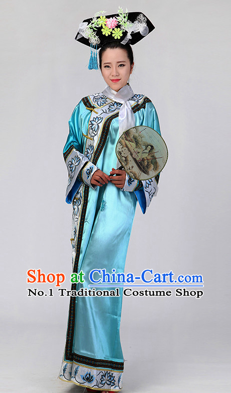 Chinese Qing Dynasty Cheongsam Classical Girls Dancewear Dance Costumes for Competition