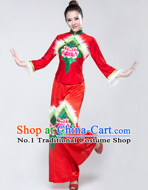 Chinese Group Dance Costumes Classical Girls Dancewear Dance Costume for Competition