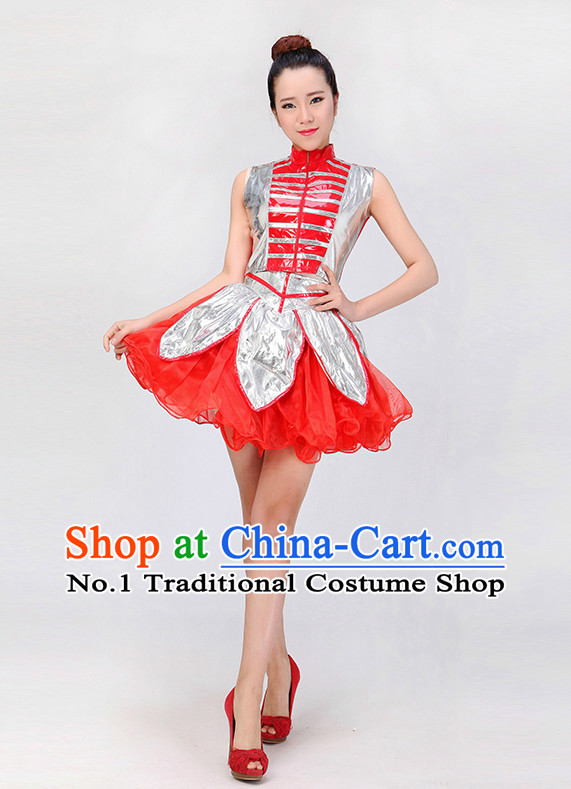 ebf2604e1 Chinese Modern Dance Costumes Girls Dancewear Dance Costume for Competition