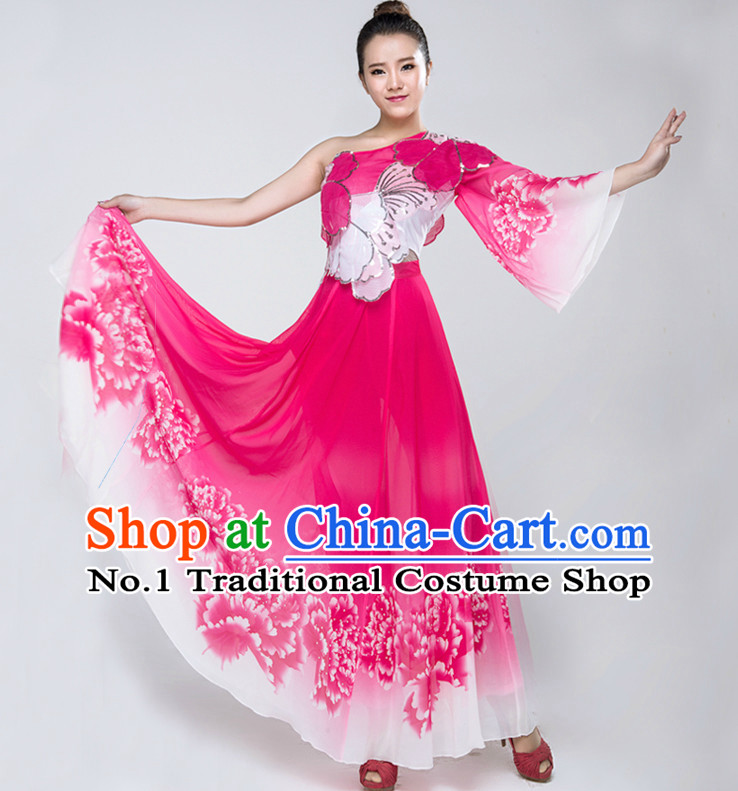 0db1571e3 Chinese Lyrical Dance Costumes Girls Dancewear Dance Costume for ...