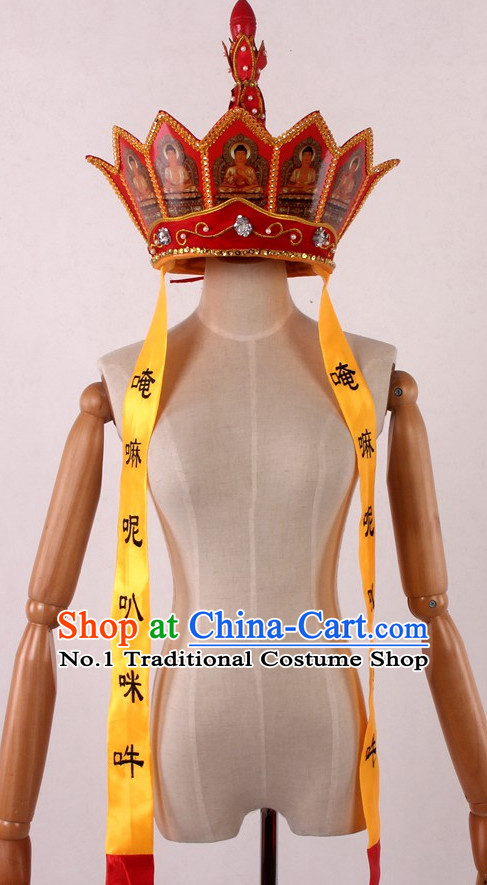 Stage Performance Bonze Tang Chinese Tang Seng Monk Hat