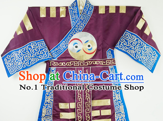 China Beijing Opera Peking Opera Zhuge Liang Taoist Ba Gua the Eight Diagrams Robe for Men