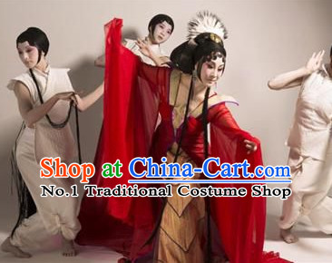 Chinese Peking Opera Beijing Opera Hua Dan Costumes and Headwear Complete Set