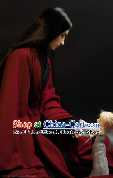 Traditional Chinese Red Hanfu Clothes for Men