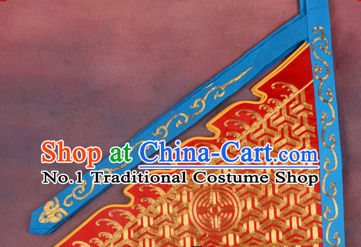Chinese Peking Opera Beijing Opear Male Costumes Armor Flags