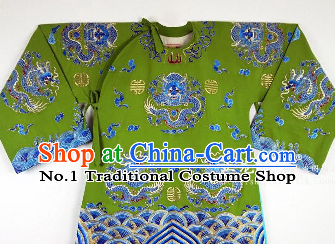 Chinese Beijing Opera Peking Opera Embroidered Long Robe for Men