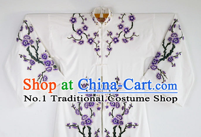 Chinese Beijing Opera Peking Opera Theatrical Costumes Embroidered Plum Blossom Long Robe for Women