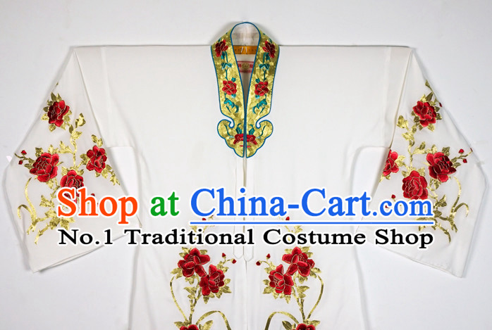 Chinese Beijing Opera Peking Opera Theatrical Costumes Embroidered Flower Long Robe for Women