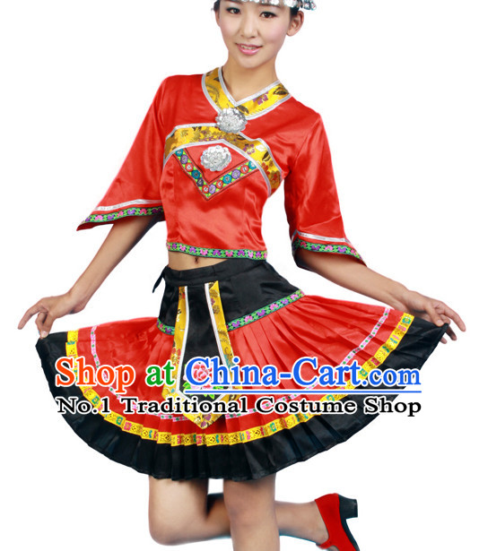 Asian Fashion China Dance Apparel Dance Stores Dance Supply Discount Chinese Miao Dance Costumes for Women