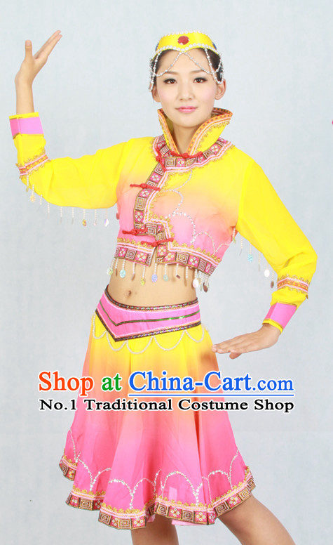 Asian Fashion China Dance Apparel Dance Stores Dance Supply Discount Chinese Mongolian Dance Costumes for Women