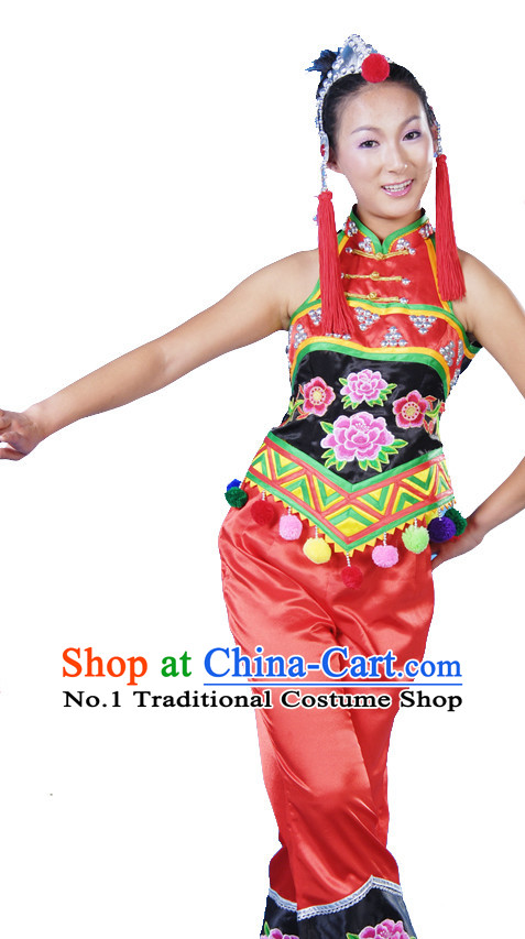 Asian Fashion China Dance Apparel Dance Stores Dance Supply Discount Chinese Ethnic Dance Costumes for Women
