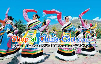 Traditional Chinese Dress Ancient Chinese Clothing Chinese Fashion Chinese Attire Tibetan Dance Costumes