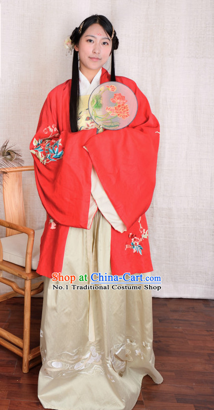 Chinese Traditional Hanfu Plus Size Long Robe Clothes