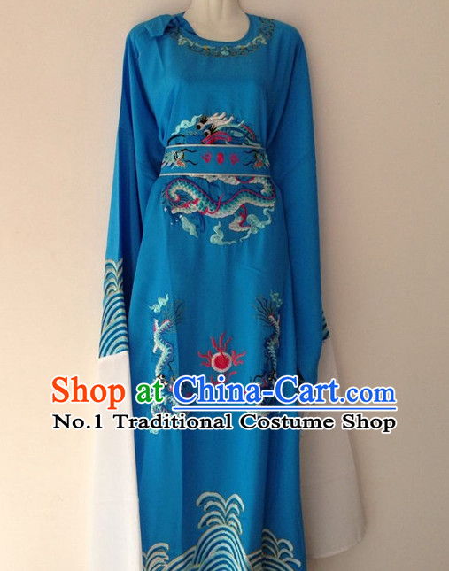 Long Sleeve Dragon Embroidery Classical Dance Costumes for Men