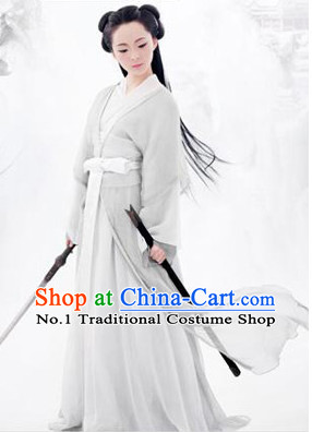 Chinese Ancient Fairy Costume and Long Wig Complete Set
