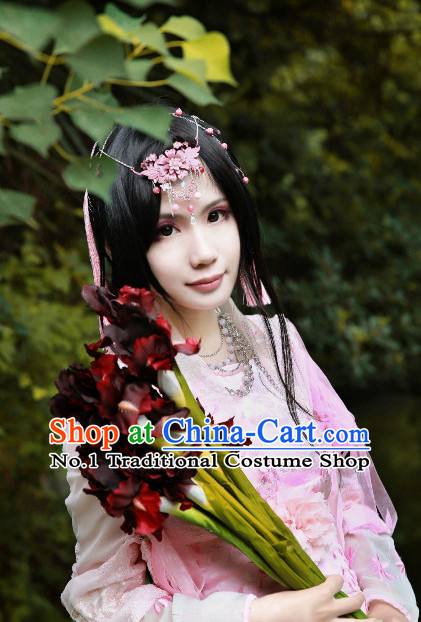 Chinese Traditional Black Long Wig for Women