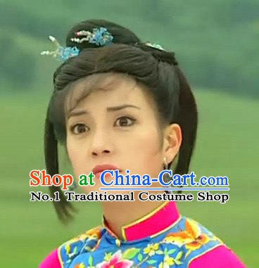 Chinese Xiao Yan Zi Zhao Wei Princess Returning Pearl Black Long Wigs