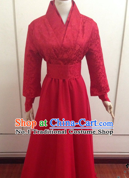 Red Chinese Classical Hanfu Outfits for Men or Women