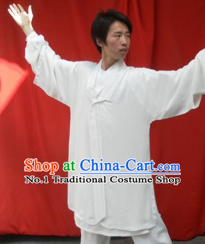White China Traditional Taoist Dresses Complete Set for Men