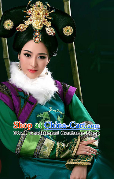 Chinese Ancient Empress Hair Accessories and Wigs