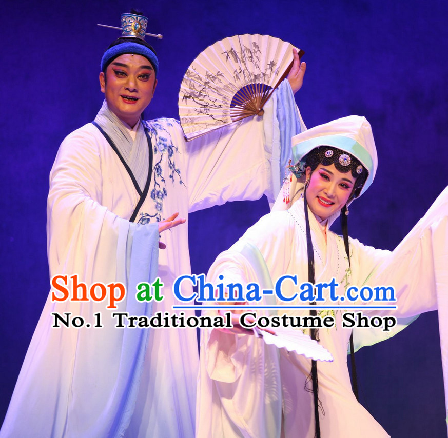 Asian Chinese Traditional Dress Theatrical Costumes Ancient Chinese Clothing Opera Lover Costumes Husband and Wife Clothes