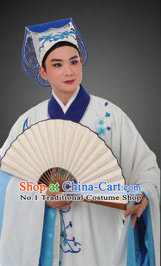 Asian Chinese Traditional Dress Theatrical Costumes Ancient Chinese Clothing Opera Male Long Robe and Hat