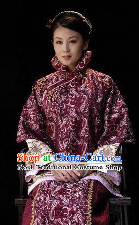 Chinese Traditional Dresses Theatrical Costumes Ancient Chinese Hanfu Noblewoman Mandarin Clothes