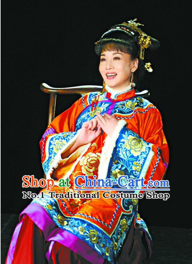Chinese Traditional Dresses Theatrical Costumes Ancient Chinese Hanfu Rich Wife Clothes and Skirt