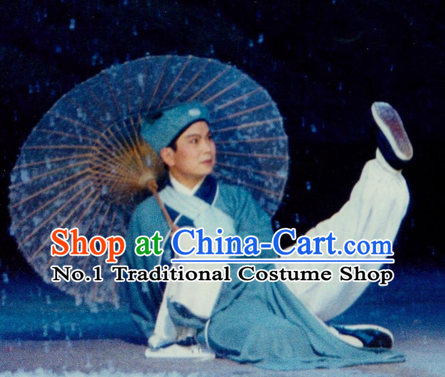 Asian Chinese Traditional Dress Theatrical Costumes Ancient Chinese Clothing Teacher Costumes and Hat