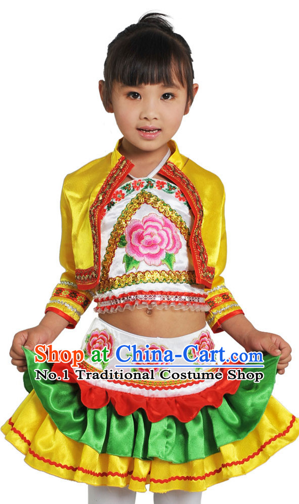 4ad8db0a4 China Traditional Little Girls Ethnic Miao Dancewear