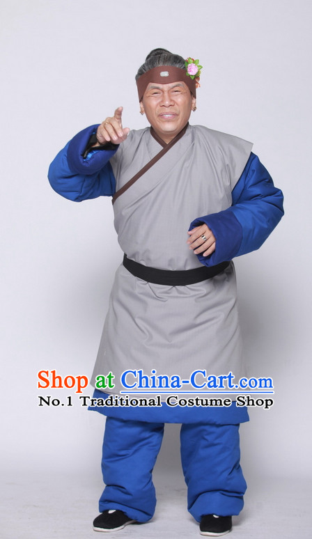 China Ancient Grandmother Costumes and Headwear Complete Set for Women