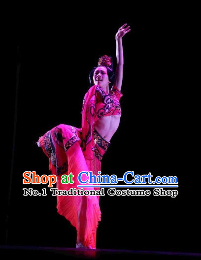 Traditional Chinese Ancient Palace Dance Costumes Complete Set for Women