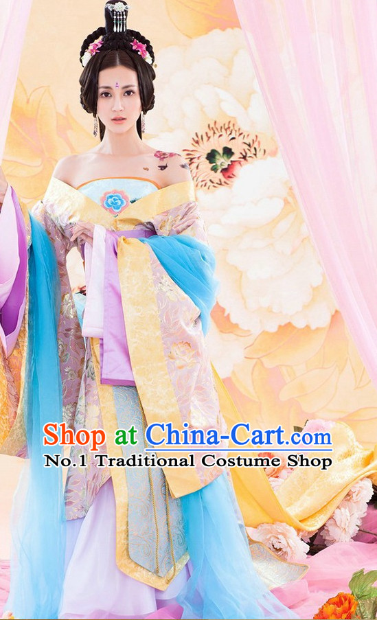 Traditional Chinese Ancient Sexy Hanfu Costumes Complete Set for Women