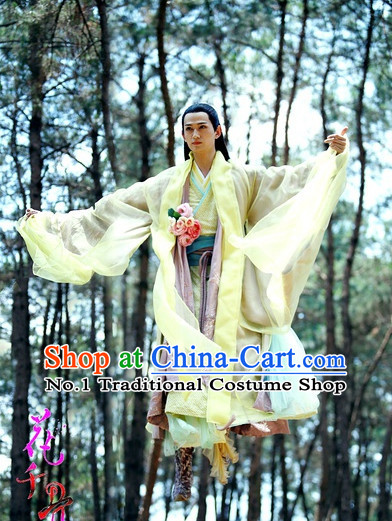 Chinese Hanfu Asian Fashion Japanese Fashion Plus Size Dresses Vntage Dresses Traditional Clothing Asian Costumes Hua Qian Gu Sha Qian Mo Costume for Men