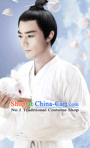 Traditional Chinese Taoist Black Wigs for Men