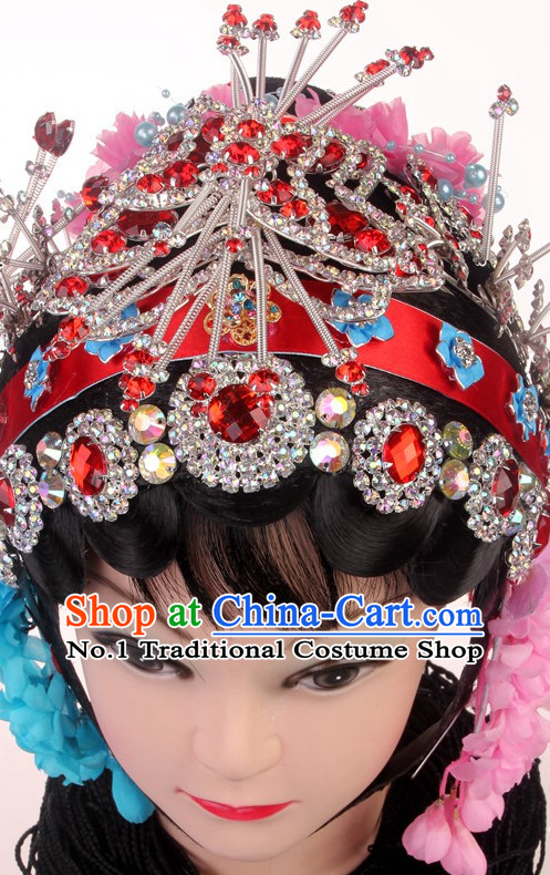 Chinese Traditional Handmade Beijing Opera Hua Tan Hair Accessories