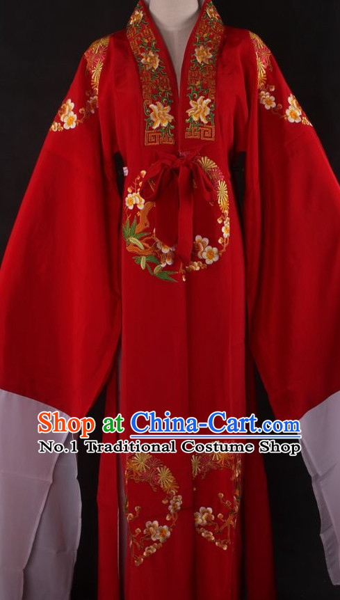 Chinese Traditional Dress Oriental Clothing Theatrical Costumes Opera Costume Long Sleeves Lady Wedding Dresses
